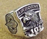 <米陸軍第101空挺部隊 SILVER925 RING #19号 新品>
