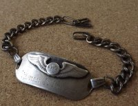 <ヴィンテージ WWII 米陸軍航空隊 パイロット 実名入ID SILVER仕様 ブレスレット>