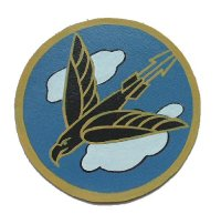 <米陸軍第525戦闘飛行隊 肉筆ハンドメイド革製スコードロン>