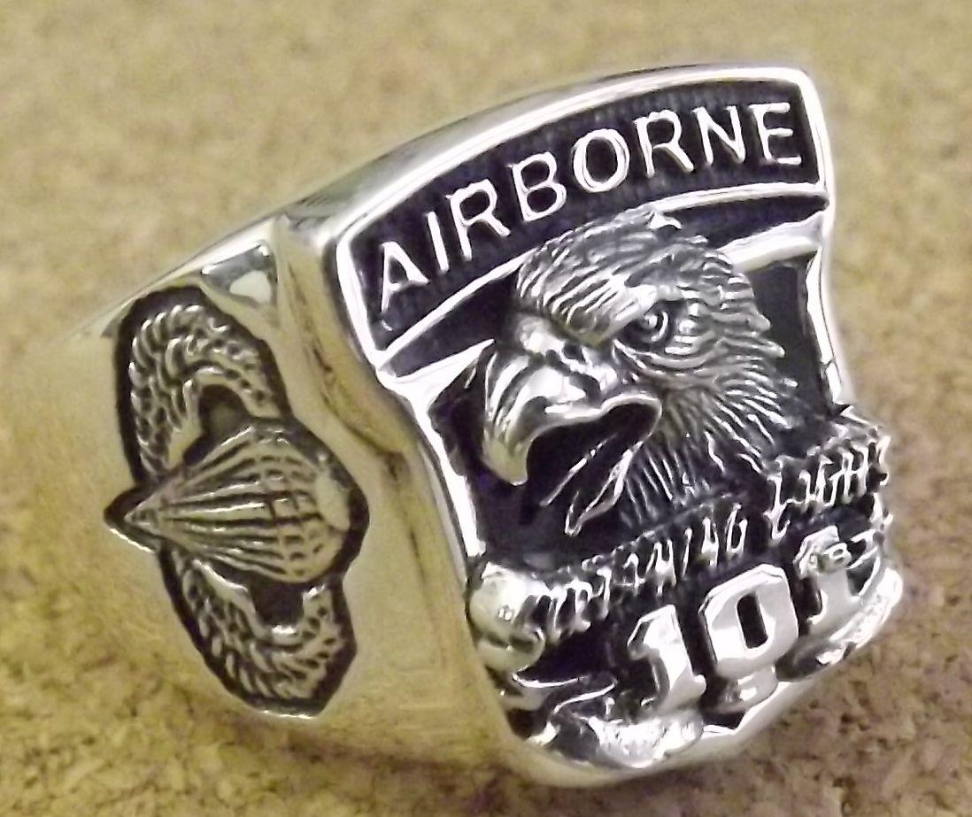 画像1: <米陸軍第101空挺部隊 SILVER925 RING #19号 新品>