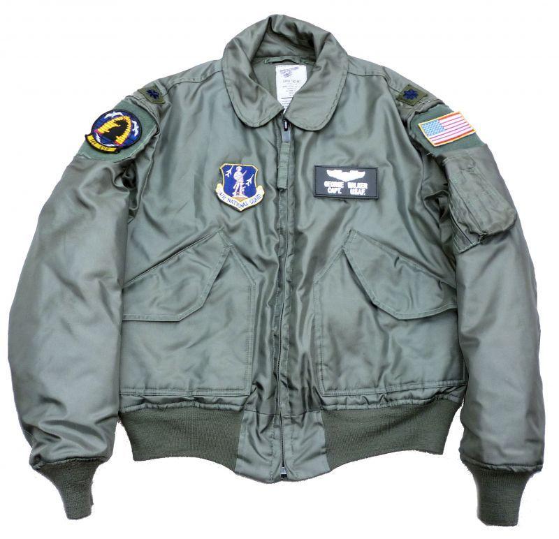 画像1: <米州兵空軍第169ESS 実物CWU-45P フライトジャケット Lサイズ USED>