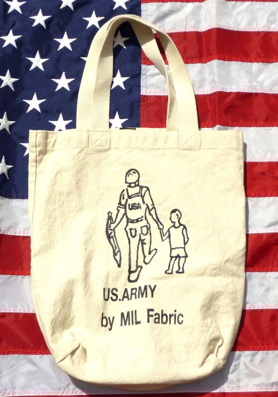 画像1: <MIL Fabric ショッピング トートバッグ 新品>