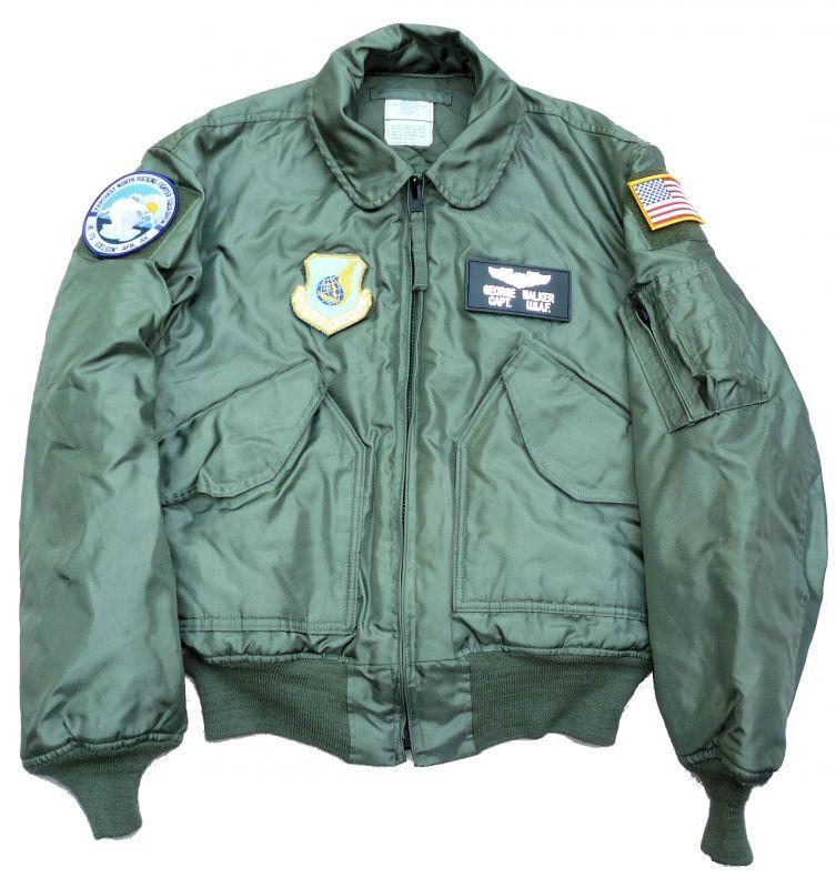画像1: <アラスカEIELSON米空軍基地 実物CWU-45P フライトジャケット Mサイズ USED>