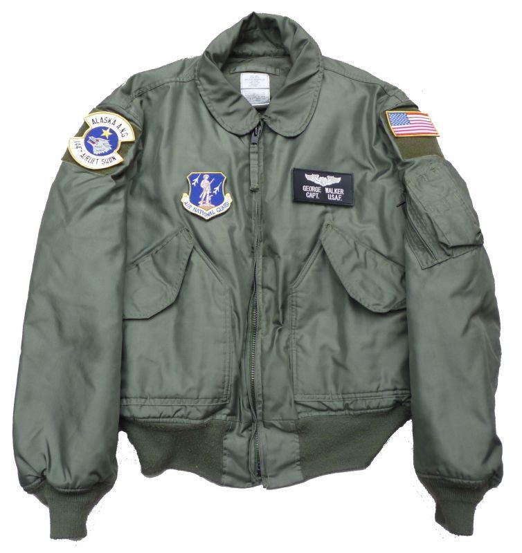 画像1: <米州兵空軍第144戦術空輸隊 実物CWU-45P フライトジャケット Lサイズ USED>