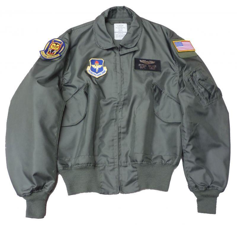 画像1: <米空軍第97飛行訓練隊 実物CWU-36P フライトジャケット Lサイズ USED>