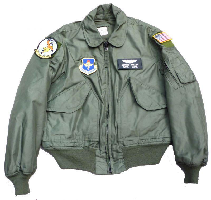 画像1: <米空軍第451飛行訓練隊 実物CWU-45P フライトジャケット Mサイズ USED>