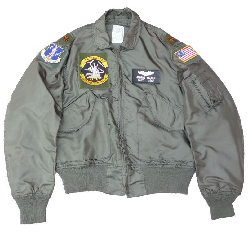 画像1: <米州兵1-135TH AVIATION 実物CWU-36P フライトジャケット Mサイズ USED>