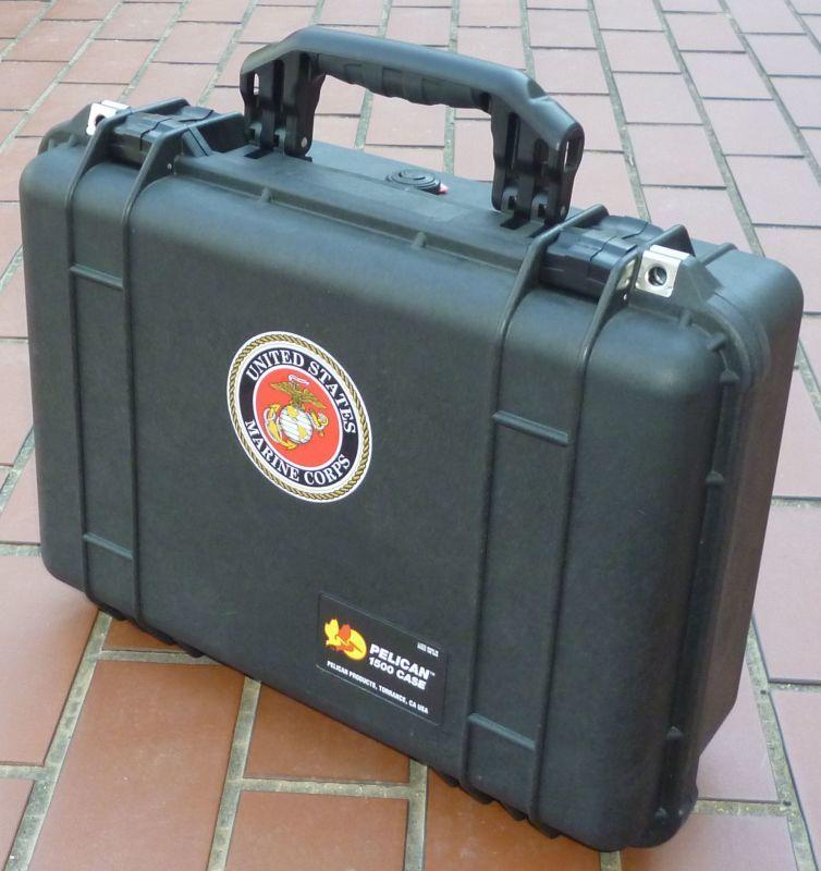 画像1: <実物米軍 PELICAN ペリカン 1500 CASE 銃器や道具入れ ケース USED>