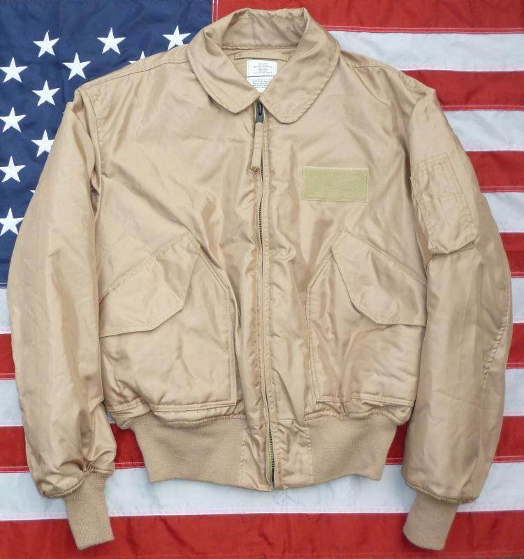 画像1: <実物CWU-45P フライトジャケット TAN色 XLサイズ 美品>