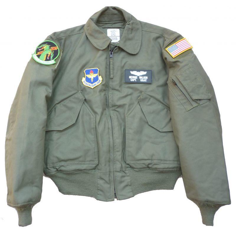 画像1: <米空軍第459飛行訓練隊 実物 艶消しマット仕様 CWU-45/P フライトジャケット Lサイズ USED>