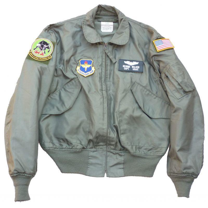 画像1: <米空軍第469飛行訓練隊 実物CWU-36P フライトジャケット Lサイズ USED>