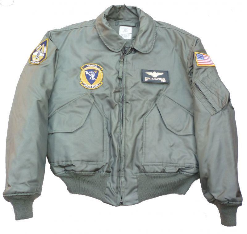 画像1: <VFA-106 DEMO TEAM 実物CWU-45P フライトジャケット XLサイズ USED>