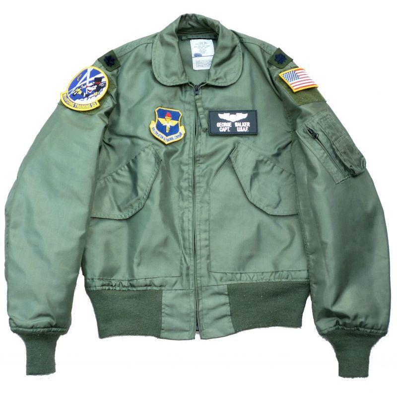 画像1: <米空軍第86飛行訓練隊 実物CWU-36P フライトジャケット Sサイズ USED>