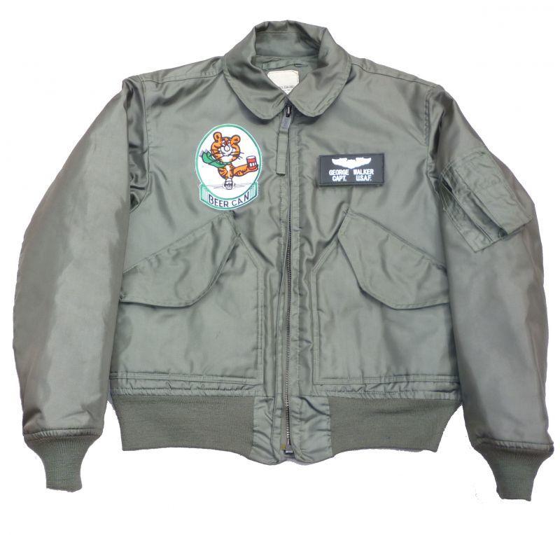 画像1: <90's 米空軍第97飛行訓練隊 実物CWU-45/P フライトジャケット Sサイズ USED>