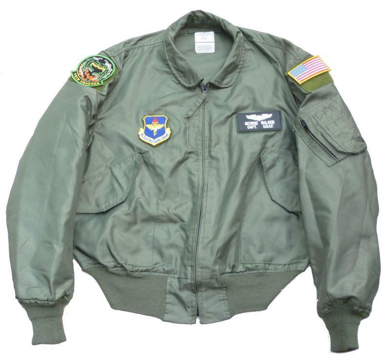 画像1: <米空軍第459飛行訓練隊 実物CWU-36/P フライトジャケット XLサイズ USED>