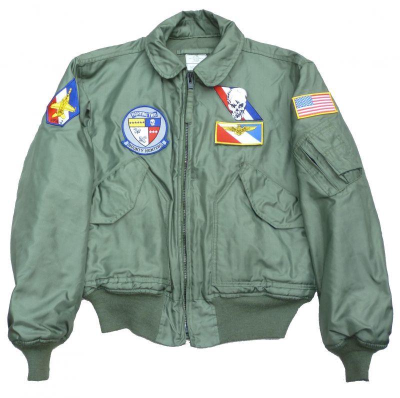 画像1: <VFA-2 実物CWU-45/P フライトジャケット Lサイズ USED>